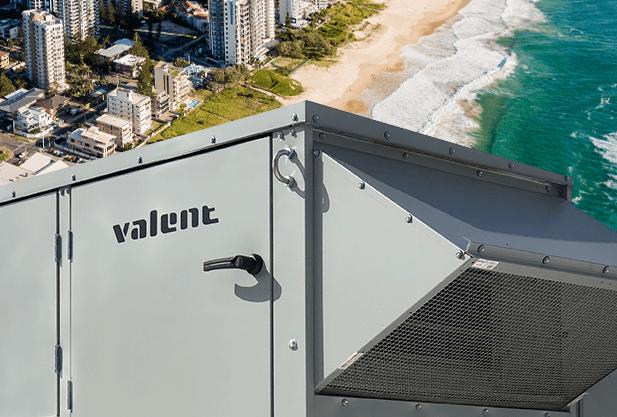 Valent painted cabinet's superior coating provides excellent salt spray performance.